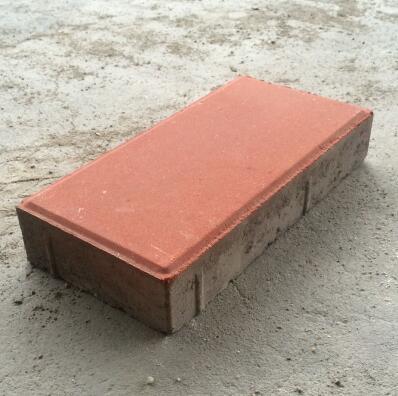 人行道红色彩砖300*150*50